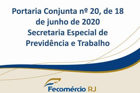 Portaria Conjunta do Ministério da Economia estabelece medidas de prevenção ao COVID 19