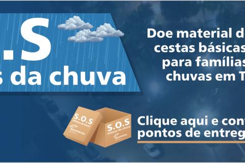 S.O.S Vítimas da chuva – O Sicomércio está recebendo doações