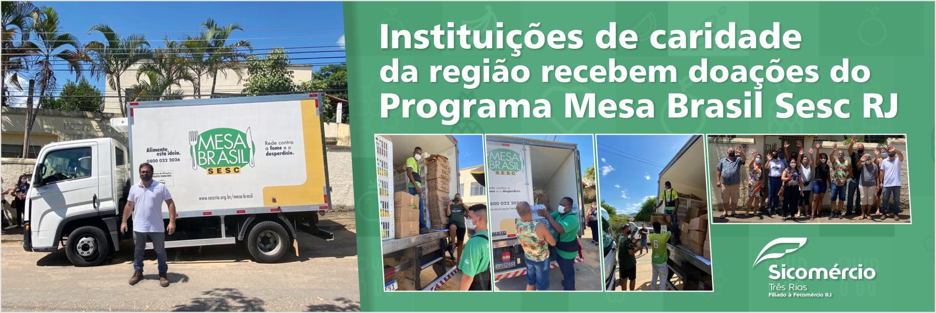 Instituições de caridade da região recebem doações do Programa Mesa Brasil Sesc RJ