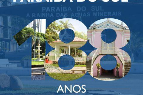 Paraíba do sul completa 188 anos