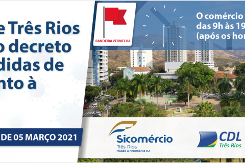 Prefeitura de Três Rios publica novo decreto de enfretamento à COVID 19