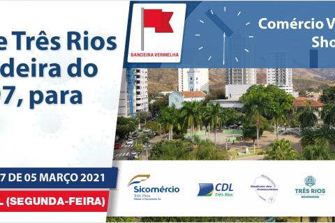 Prefeitura de Três Rios atualiza bandeira do decreto 6.497 para vermelha