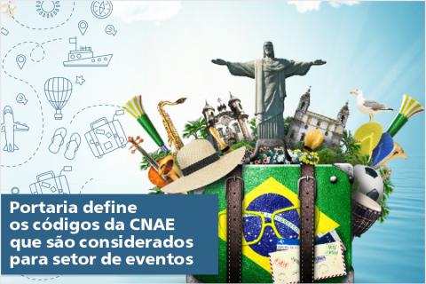 Portaria define os códigos da CNAE que são considerados para setor de eventos