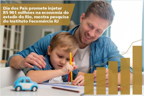 Dia dos Pais promete injetar R$ 901 milhões na economia do estado do Rio, mostra pesquisa do Instituto Fecomércio RJ